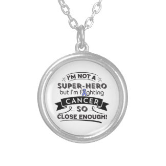 Stomach Cancer Not a Super-Hero Round Pendant Necklace
