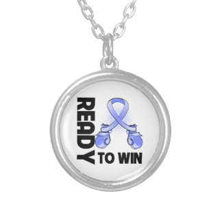 Stomach Cancer Ready To Win Round Pendant Necklace