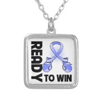 Stomach Cancer Ready To Win Square Pendant Necklace