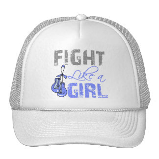 Stomach Cancer Ribbon Gloves Fight Like a Girl Cap