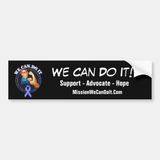 Stomach Cancer - Rosie The Riveter - We Can Do It Bumper Sticker