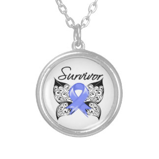 Stomach Cancer Survivor Butterfly Necklace