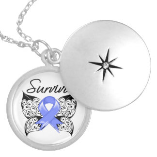 Stomach Cancer Survivor Butterfly Custom Necklace