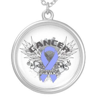 Stomach Cancer Survivor Grunge Winged Custom Jewelry