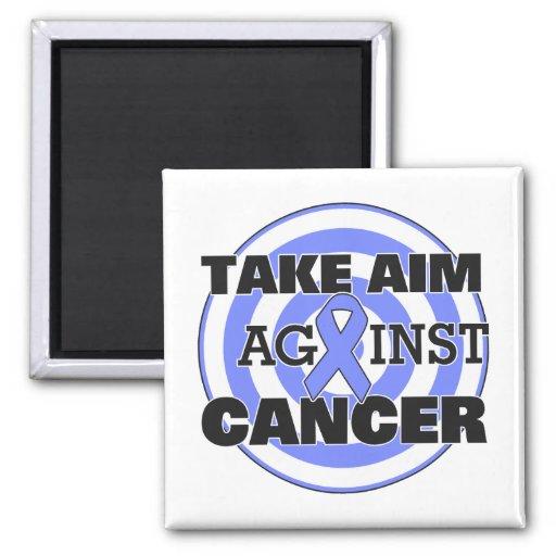 Stomach Cancer Take Aim Against Cancer Refrigerator Magnet