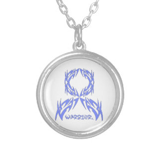Stomach Cancer Warrior Tribal Ribbon Necklaces