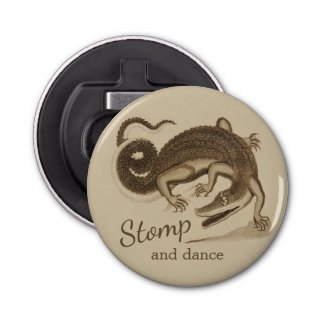 Stomp and dance CC0893 Wild happy crocodile Bottle Opener