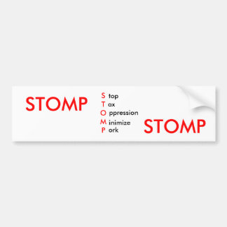 Stomp - Bumper Sticker 1