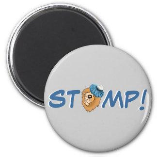 STOMP! - Detroit Football Refrigerator Magnets