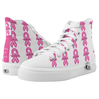 Stomp On Cancer X100S Printed Shoes