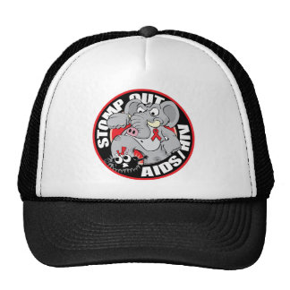 Stomp Out AIDS HIV Trucker Hats