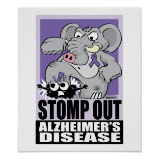 Stomp Out Alzheimer s Disease Print