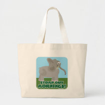 Stomp Out Mornings Elephant Large Tote Bag