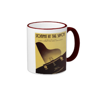 Stompin' At the Savoy Vintage Songbook Cover Ringer Mug