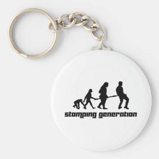 Stomping Generation Basic Round Button Key Ring