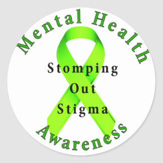Stomping Out Stigma Round Sticker