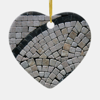 Stone 2  Heart Christmas Ornament