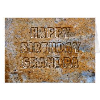 Stone Age Happy Birthday Grandpa Cards