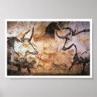 Stone Age Lascaux Bulls Buffalo Art Poster