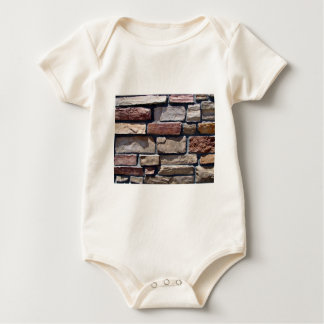 Stone and Brick Wall Close-up Baby Bodysuit