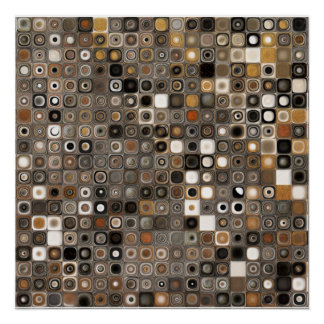 Stone and Copper Mosaic Print