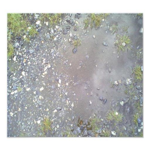 Stone and water photo print