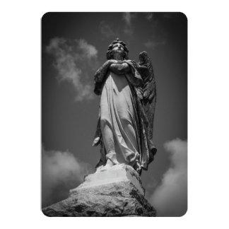 Stone Angel 13 Cm X 18 Cm Invitation Card