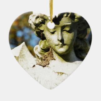Stone angel christmas ornament