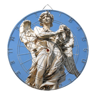 Stone angel in Rome, Italy Dartboard