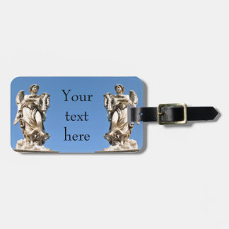 Stone angel in Rome, Italy Luggage Tag