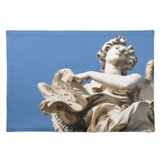 Stone angel in Rome, Italy Placemat