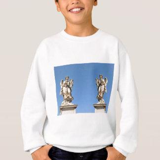 Stone angel in Rome, Italy Sweatshirt