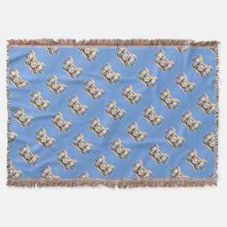 Stone angel in Rome, Italy Throw Blanket