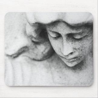 Stone angel mousepads