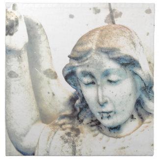 Stone angel portrait napkin