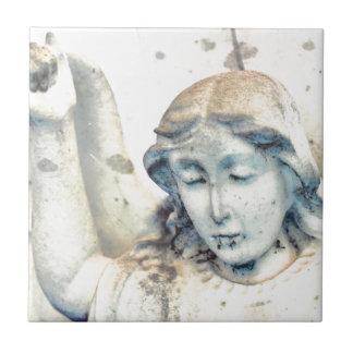 Stone angel portrait tile
