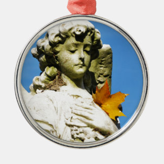 Stone angel Silver-Colored round decoration