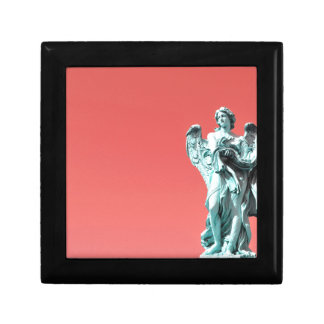 Stone angel statue gift box