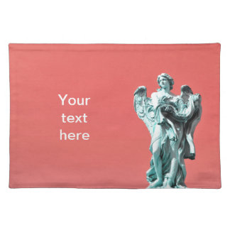 Stone angel statue placemat