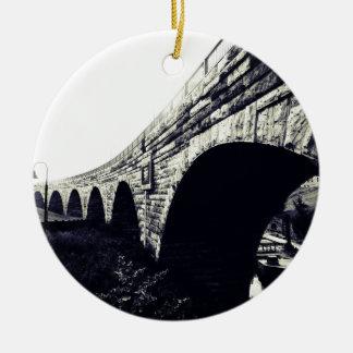 Stone Arch Bridge Christmas Ornament