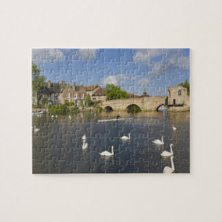 Stone arched bridge and River Ouse, St Ives, Jigsaw Puzzle