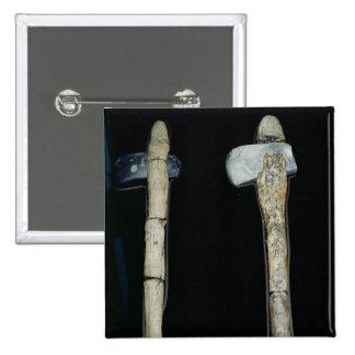 Stone Axes, prehistoric 15 Cm Square Badge