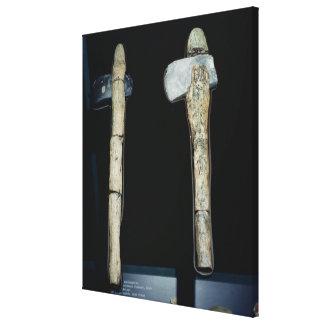 Stone Axes, prehistoric Canvas Print