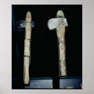 Stone Axes, prehistoric Poster