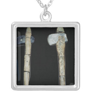 Stone Axes, prehistoric Silver Plated Necklace