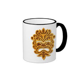 Stone Aztec Mask Ringer Mug