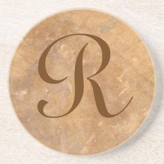 Stone Background Monogram Coaster