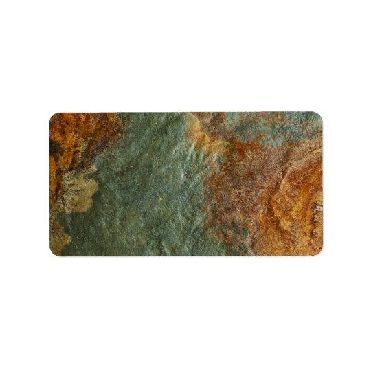 Stone Background - Slate Rock Customised Template Label