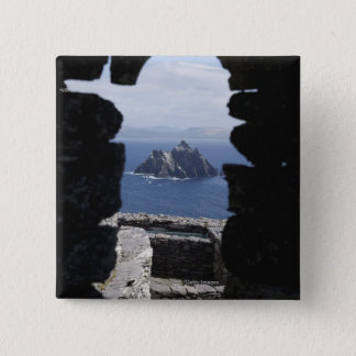 Stone Beehive Monk Huts Clochanson Skellig Michael 15 Cm Square Badge