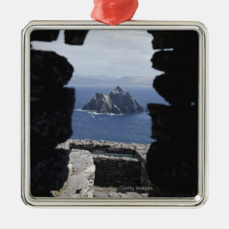 Stone Beehive Monk Huts Clochanson Skellig Michael Christmas Ornament
